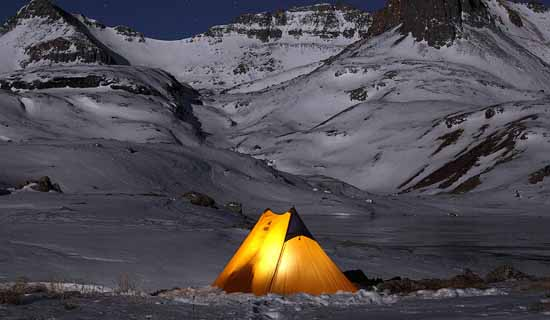 Установка и обогрев палатки на зимней рыбалке