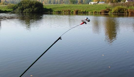 Рыбалка на осеннем пруду