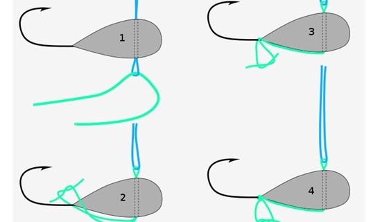 Привязывание вольфрамовой мормышки